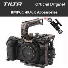 Tilta BMPCC 4K 6K kamera kafesi TA T01 B G SSD sürücü tutucu tam kamera kafesi üst kolu Baseplate BMPCC için 4K kamera aksesuarları
