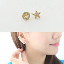 New Fashion Cute Five-pointed Star Crystal Stud Earrings for Women Wedding Jewelry Accessories Wholesale Brincos Earrings WD649 цена