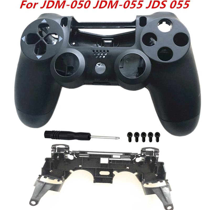 For Sony Playstation 4 Pro JDM-050 JDM-055 JDS 050 JDS 055 Frame Stand of L1 R1 Key Holder Front Back Housing Shell Case Replace(China)