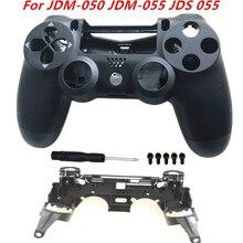 Pour Sony Playstation 4 Pro JDM 050 JDM 055 JDS 050 JDS 055 support de cadre de L1 R1 porte clés avant boîtier arrière coque remplacer