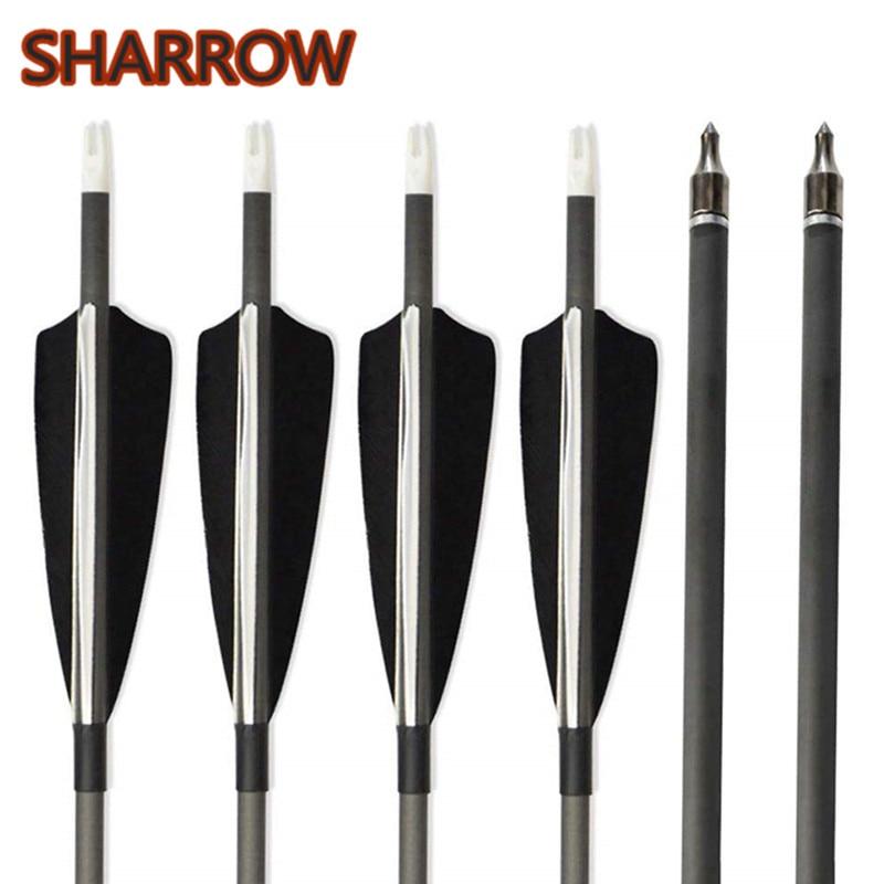12pcs Archery Carbon Arrows 34