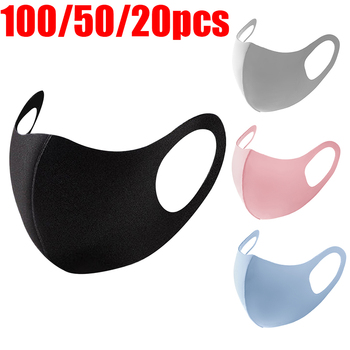100/50/20/10 Pcs Mouth Masks Washable Cloth Activated Carbon Filter PM2.5 Respirator Anti Dust Proof Muffle Allergy Face Mask