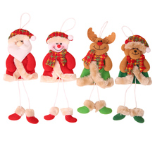 Xmas DIY Christmas Pendants Santa Claus Snowman Baubles Christmas Tree Hanging Ornaments New Year Gifts for Home Decoration christmas snowman baubles pattern stair stickers