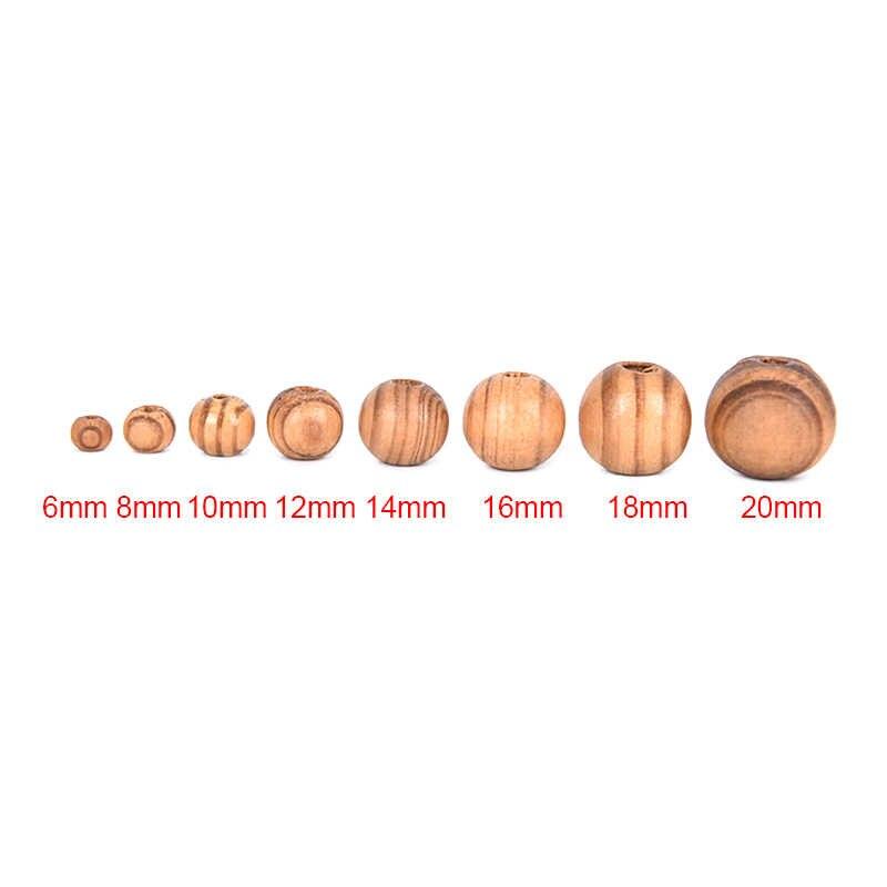 50 stuks Natuurlijke Bruin Hout Spacers Losse Kralen Etnische Stijl DIY Ketting Armbanden Bedels Sieraden Maken Bevindingen 8 Maten