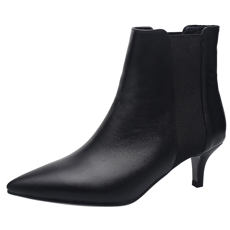 Image 2 - FEDONAS Brand Elegant Ladies Thin Heels Party Prom Shoes Woman Winter Warm Plus Size Chelsea Boots Fashion Women Ankle Boots-in Ankle Boots from Shoes