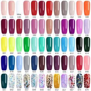 Image 5 - CANNI Gel de peinture pour ongles, 60 pièces/lot, Gel de laque, plastique, pot de 5ml, 60 pièces/lot, peinture UV LED Nail Art, séchage rapide, Pure à paillettes