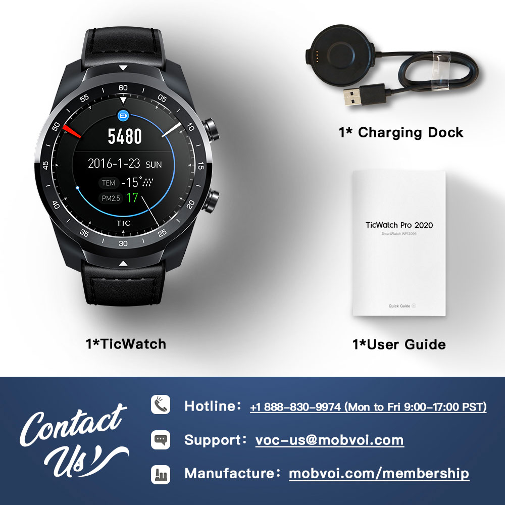 Clearance SaleîTicwatch Tracking Memory Heart-Rate-Monitor NFC Dual-Display Sleep Ip68 Waterproof 1GB