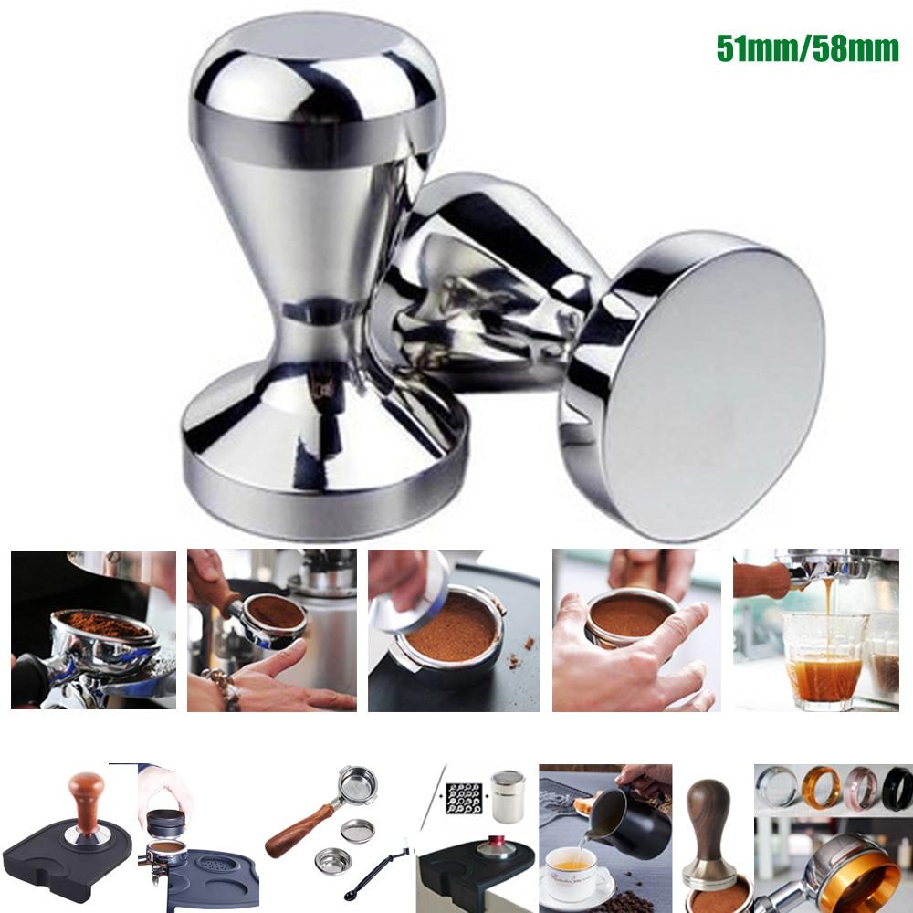 Алюминиевый сплав 51 мм тампер ручной работы кофе прессованный порошок молоток эспрессо кафе бариста инструменты машины аксессуары