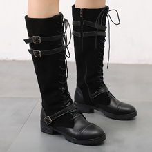 Plus Size 43 Womens Boots Leather PU Zip Beautiful Fur Knee High Women Solid Rubber Woman Zapatos Mujer