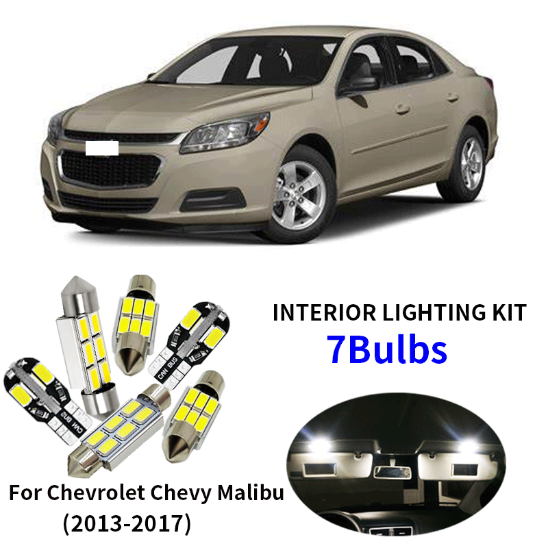 7x Canbus Wit Led Lampen Interieur Kit