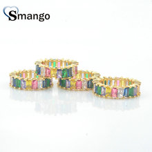 5Pieces,Women Fashion Jewelry,The Rainbow Series Rings,Gold Color, Pave Setting CZ Rings