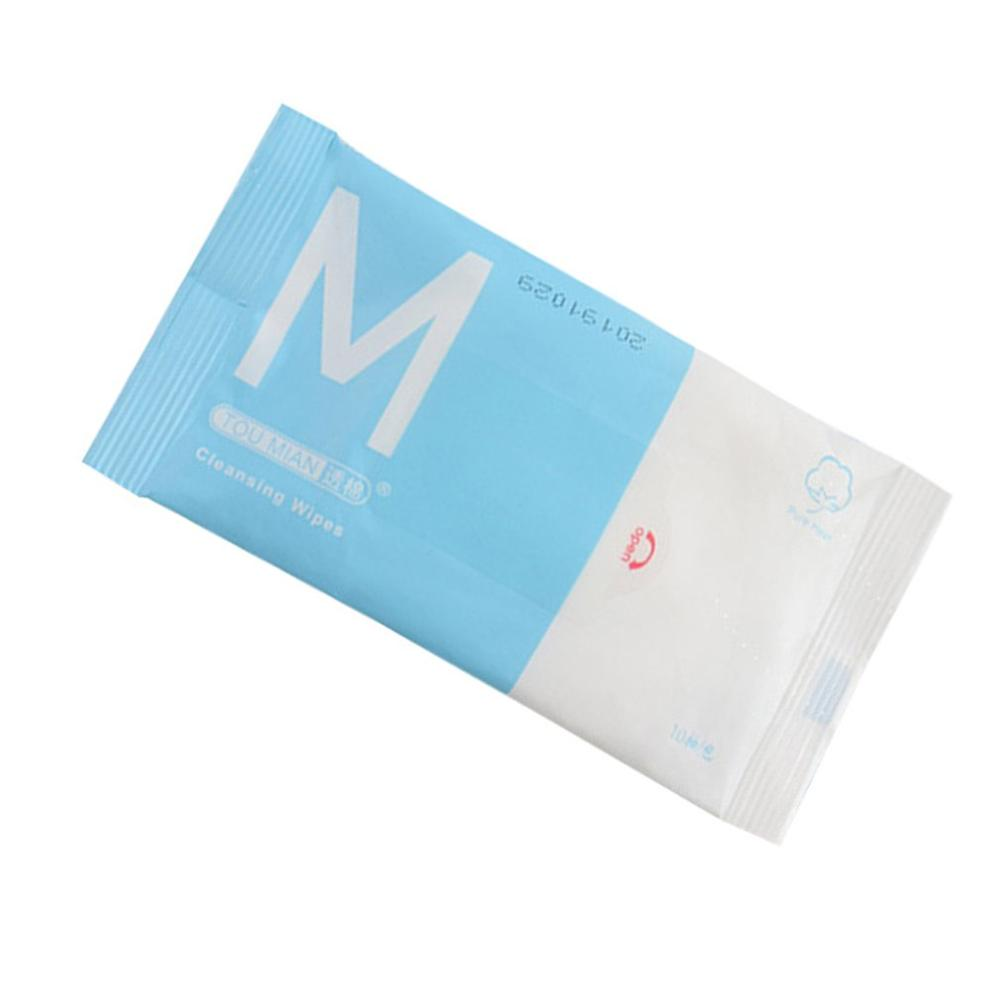 10 Bags Portable Pouch Clean Antibacterial Wipes