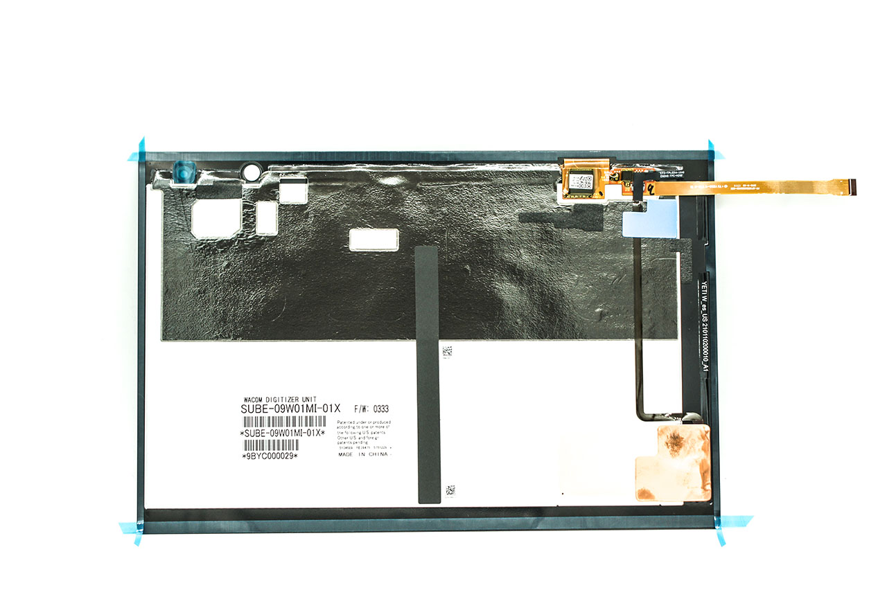 联想Yoga Book 10 yb1-x91f 背光触摸键盘更换教程YB1-X91L X91X X90 X90F X90L backlit keyboard Replacement SUBE-09W01MI-01X WACOM DIGITIZER UNIT