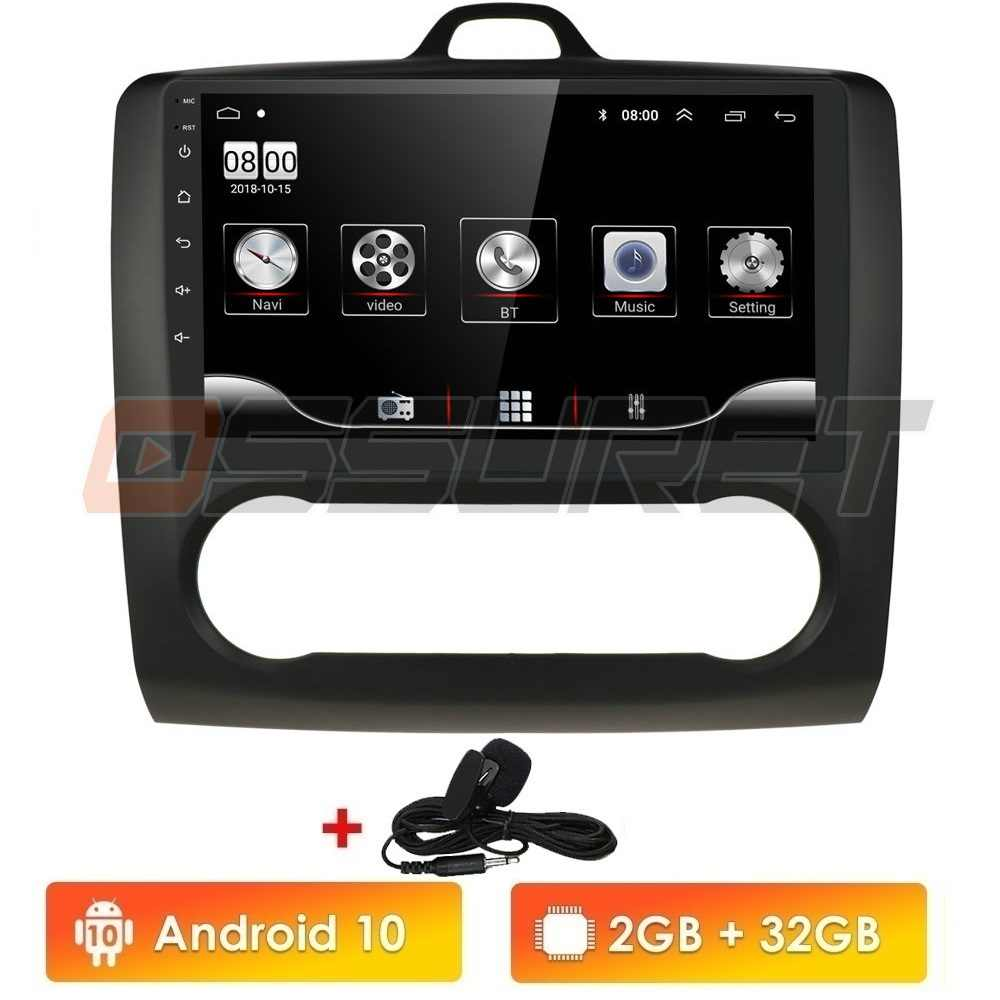 Android 10 Auto Radio Player per Ford Focus Exi A Mk2 2004-2011 Multimedia Stereo Video Player di Navigazione GPS 2 Din Quad-core