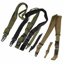 Три точки винтовка слинг Тактический оружейный ремень Вертлюги пояс для банджи Военная униформа для наружной фотосъемки Принадлежности для охоты 3 точечный оружейный ремень