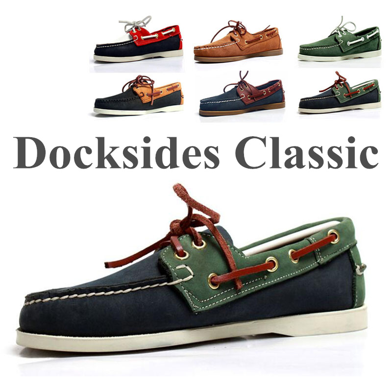 Men Genuine Leather Driving Shoes,New Fashion Docksides Classic Boat Shoe,Brand Design Flats Loafers For Men Women 2019A012