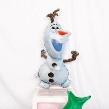 Balões de folha de olaf para decoração, balão de folha de olaf para decoração de festa de aniversário infantil, desenhos animados, bonito, boneco de neve para crianças, festa de aniversário, 1 peça brinquedo,