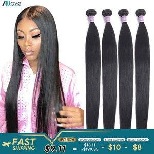 Allove Brazilian Straight Hair Bundles 100% Human Hair Natural Color 8-28inch Good Quality Human Hair Bundles Deals