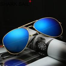 SHARK SAIL 2019 Classic Colorful Sunglasses 3025 Metal Frame Color Film Sun Glasses 3026