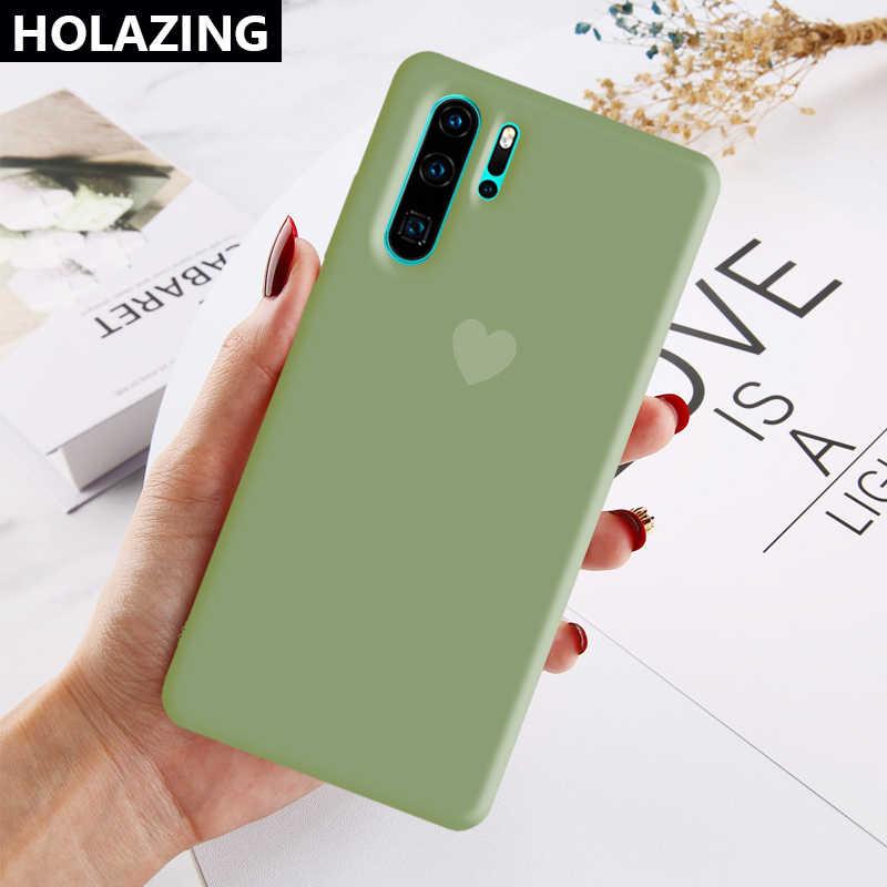 Huawei社P40 プロ + P30 P20 lite 1080pスマート 2019 プラスケースキャンディハートマッチング色ソフトシリコンカバーcoque funda
