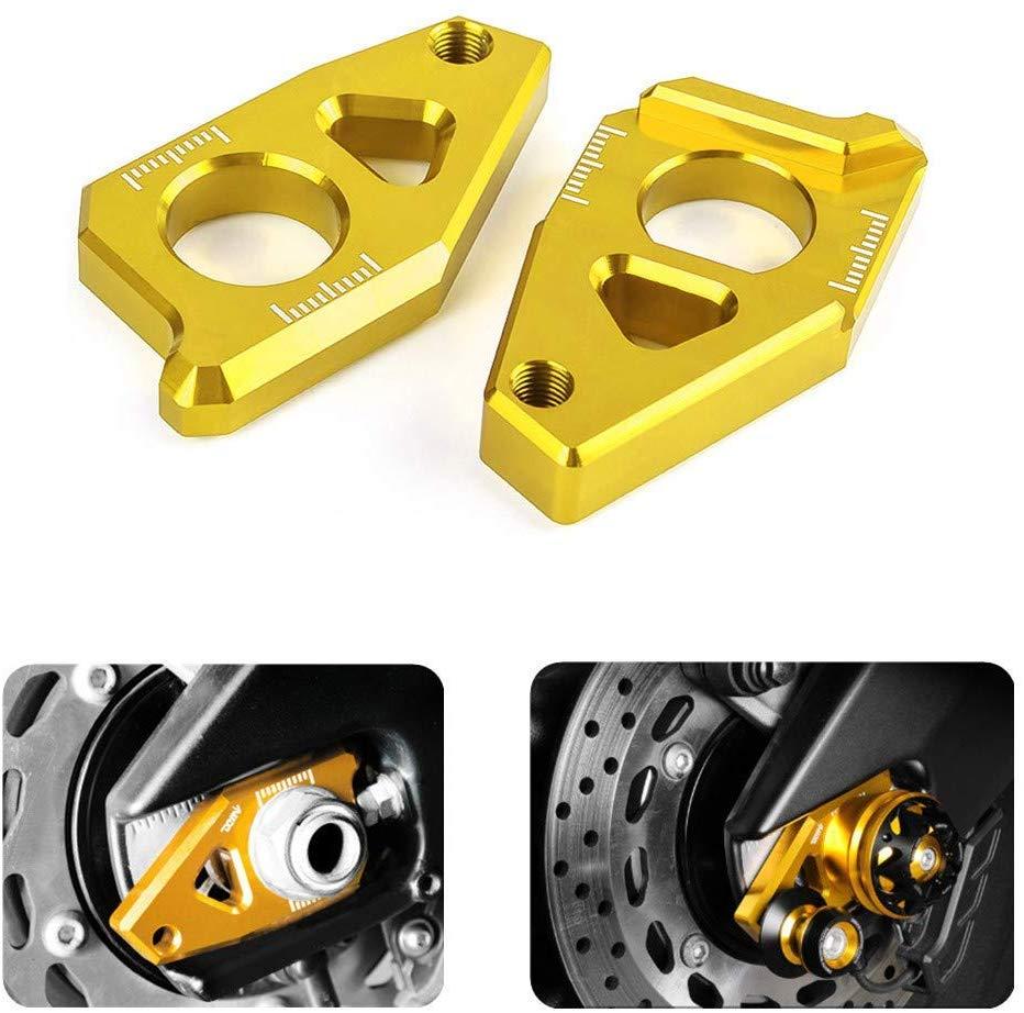 CNC Rear Axle Blocks Chain Adjuster For Yamaha TMAX 530 12-15 YZF R1 05-15 FZ8 12-15 FZ1 06-15 Red