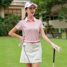 Летний комплект женских юбок, женская футболка с коротким рукавом, плиссированные А-образные юбки, костюмы для гольфа/тенниса, одежда для гольфа D0682
