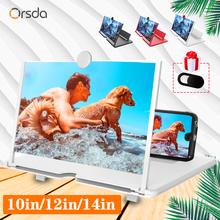 Orsda 10/12/14 inch HD Stylish Universal Screen Amplifier 3D Mobile Phone Screen Amplifier for All Mobile Phone Mag
