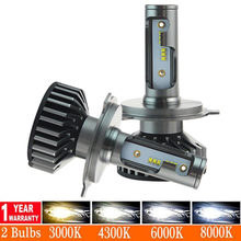 Car Headlight H4 16000LM LED H7 Canbus No Error H1 H3 H8 H11 9005 9006 50W 6500K car Styling Auto Headlamp Fog Light Bulbs(China)