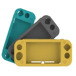 Image 2 - Przełącznik do Nintendo Lite Full Body ergonomiczne antypoślizgowe miękkie etui silikonowe osłony na konsolę Nintendo Switch Lite Mini