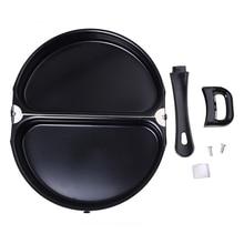 Горячая XD-складной горшок из нержавеющей стали антипригарная сковорода для омлета плита кухонная посуда с крышкой портативный