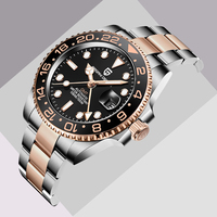 PAGANI DESIGN-reloj mecánico clásico para hombre, de lujo, GMT, de cerámica, 40mm, cristal de zafiro, acero inoxidable, resistente al agua, 2021