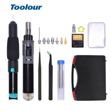 Toolour Mini Gas Soldering Iron Kit Cordless Self-Ignition Welding Gun Torch Repair Soldering Station Tip Pyrography Wood Tool недорого