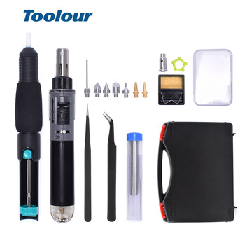 Toolour Mini Gas Soldering Iron Kit Cordless Self-Ignition Welding Gun Torch Repair Soldering Station Tip Pyrography Wood Tool self ignition 5 in 1 gas soldering iron cordless welding torch kit tool gas soldering iron free shipping