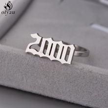 Oly2u Персонализированная дата рождения число кольца для мужчин