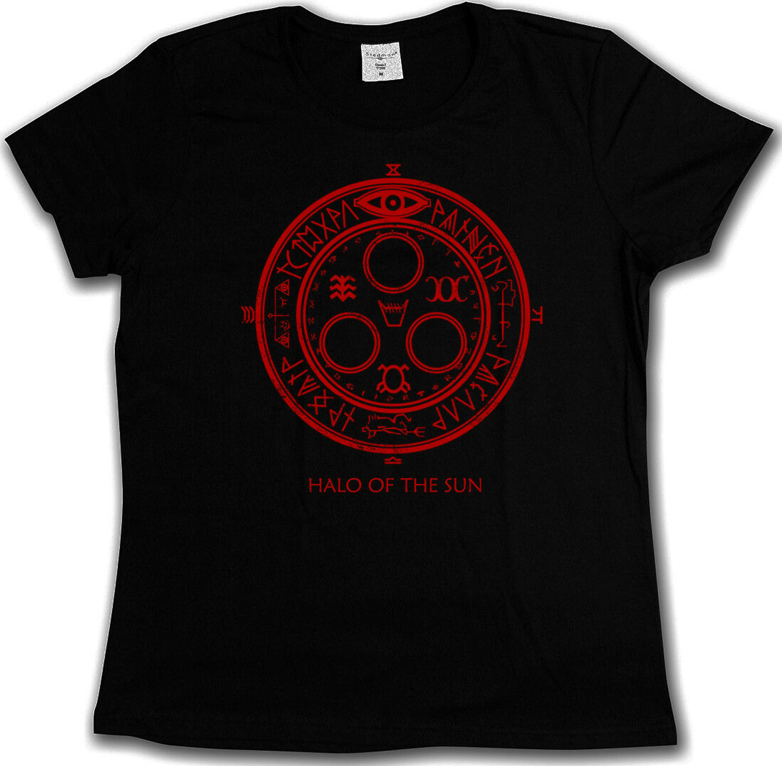 HALO OF THE SUN LOGO T-SHIRT - Silent Horror Movie Hill Game Satanic Circle 666 image