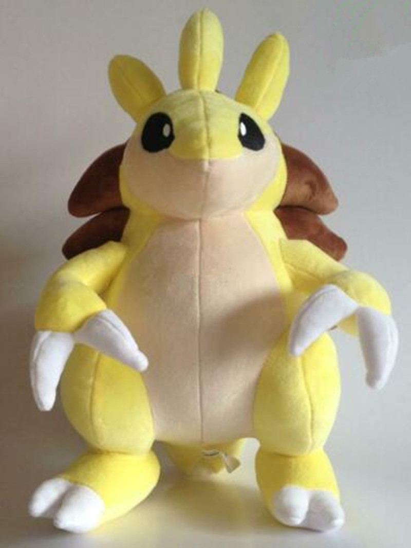 Anime Games Pikachu Series New 30CM Sandslash Plush Toy Swire Armor Stuffed Toys A Birthday Present For Children.