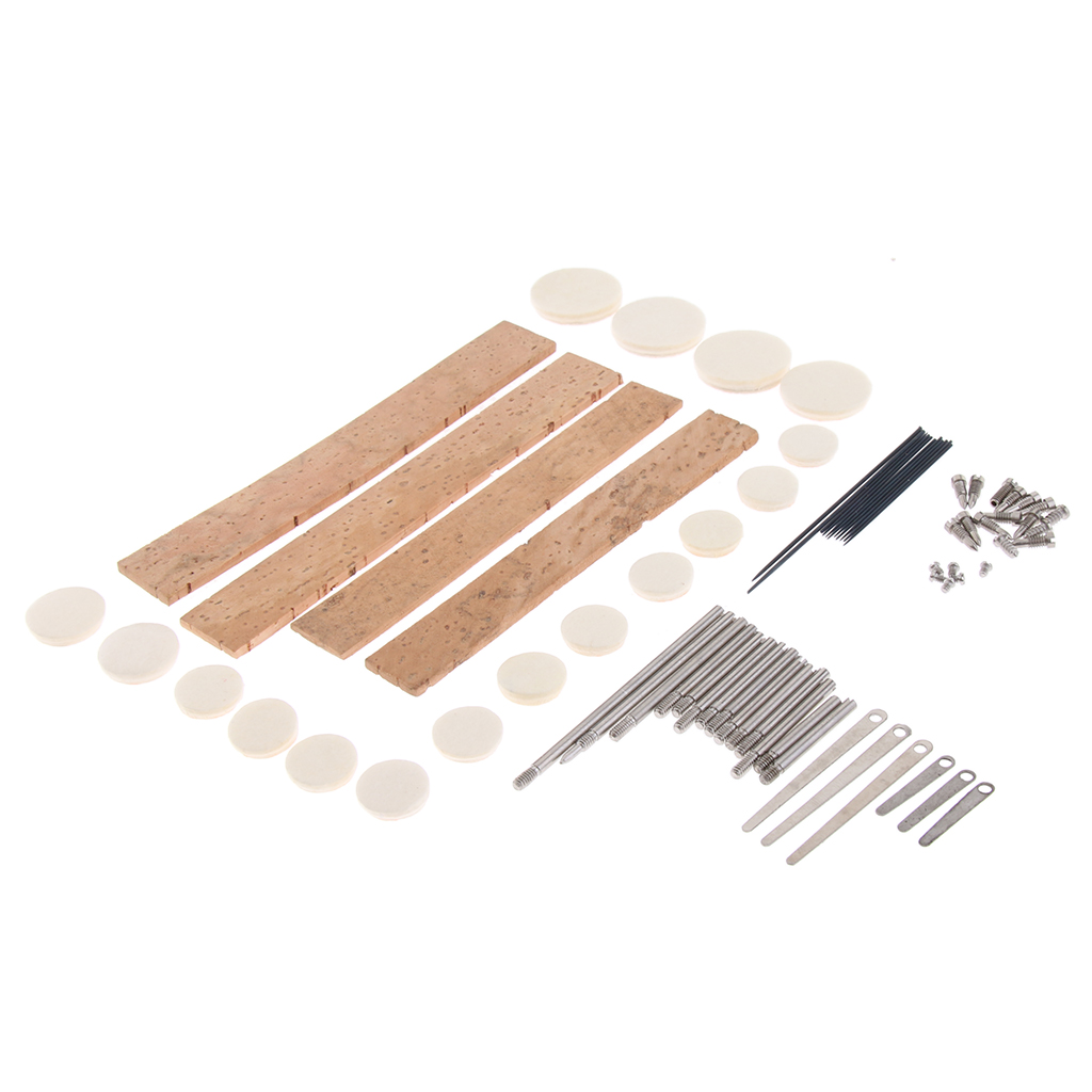Portable Clarinet Replacement Pads Screws Set For Wind Woodwind Instrument Parts
