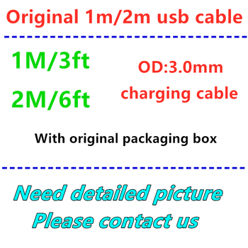 100pcs/lot High quality 1m 3ft 2m 6ft usb cable USB Data Sync Charger Cable With Original packaging box