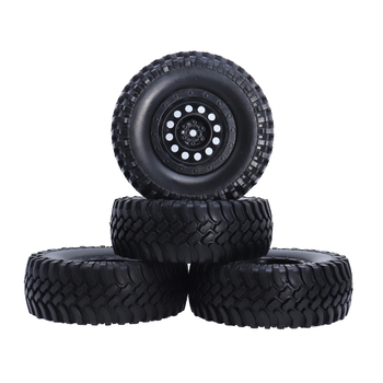 4PCS 1:10 Scale 1.9inch 100mm Rubber Rocks Crawler Car Tires Tyre 12mm Wheel hub for 1/10 Traxxas Redcat SCX10 AXIAL RC4WD TF2 image