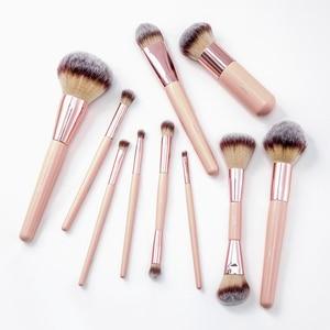 Image 5 - BBL 1pcs Pink Makeup Brush Kabuki Powder Foundation Blush Dual Ended Sculpting Blending Highlighter Smudge Eyeshadow Nasal Brush