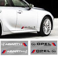 2x Puerta de coche pegatina lateral etiqueta engomada del cuerpo de automoción productos para Audis Sline TT J8 B8 A1 A3 A4 B5 B6 B7 A5 A6 Q5 C5 C6 C7 A7 D3 D4 Q3