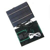 3.5 충전식 배터리 + 모바일 전원 은행에 대 한 USB 출력에 대 한 DC35MM 자료와 새로운 18650 W 5V 태양 전지 패널