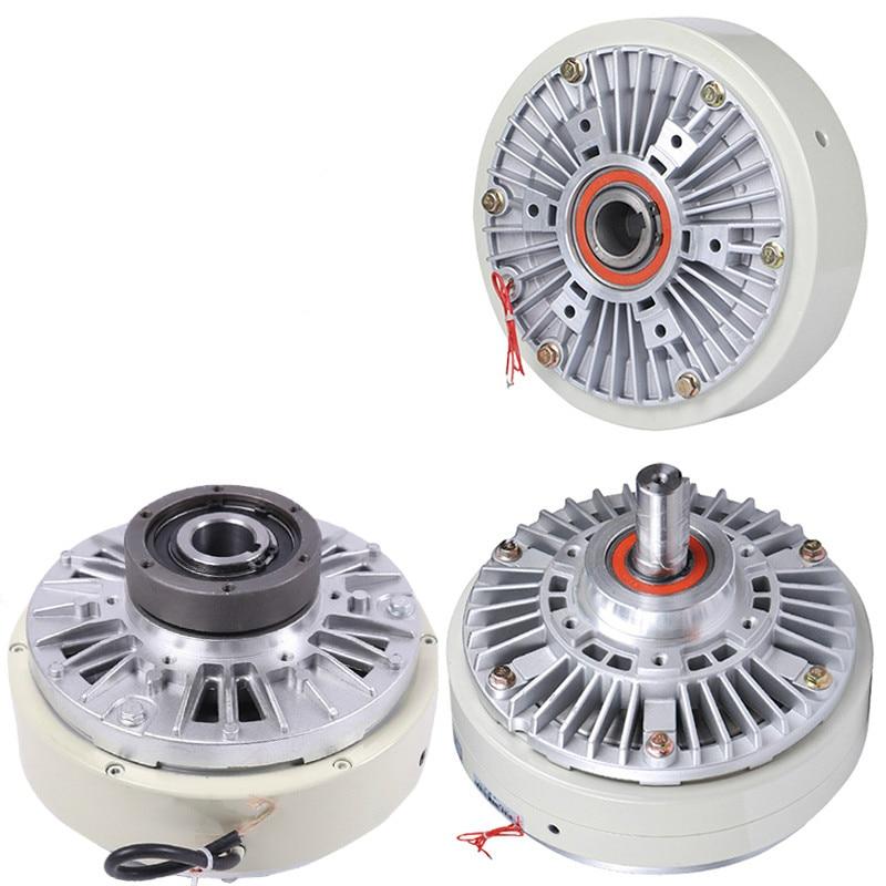 24V Magnetic Powder Brake Clutch Tension Controller Electric Single Shaft Dual Shaft Hollow