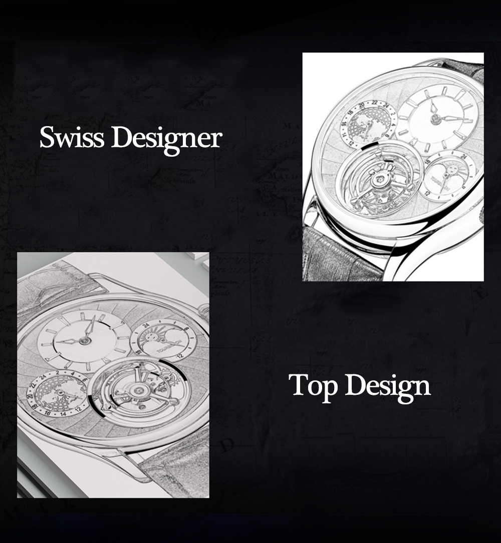 Original Tourbillon watch GUANQIN 2019 NEW clock men waterproof mechanical Sapphire leather top brand luxury Relogio Masculino 6