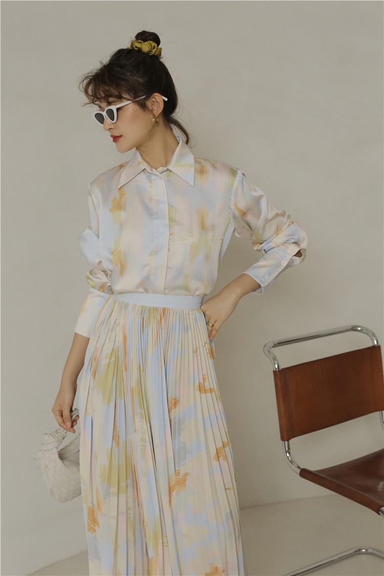 Autumn Tie Dye Long Sleeve Shirt