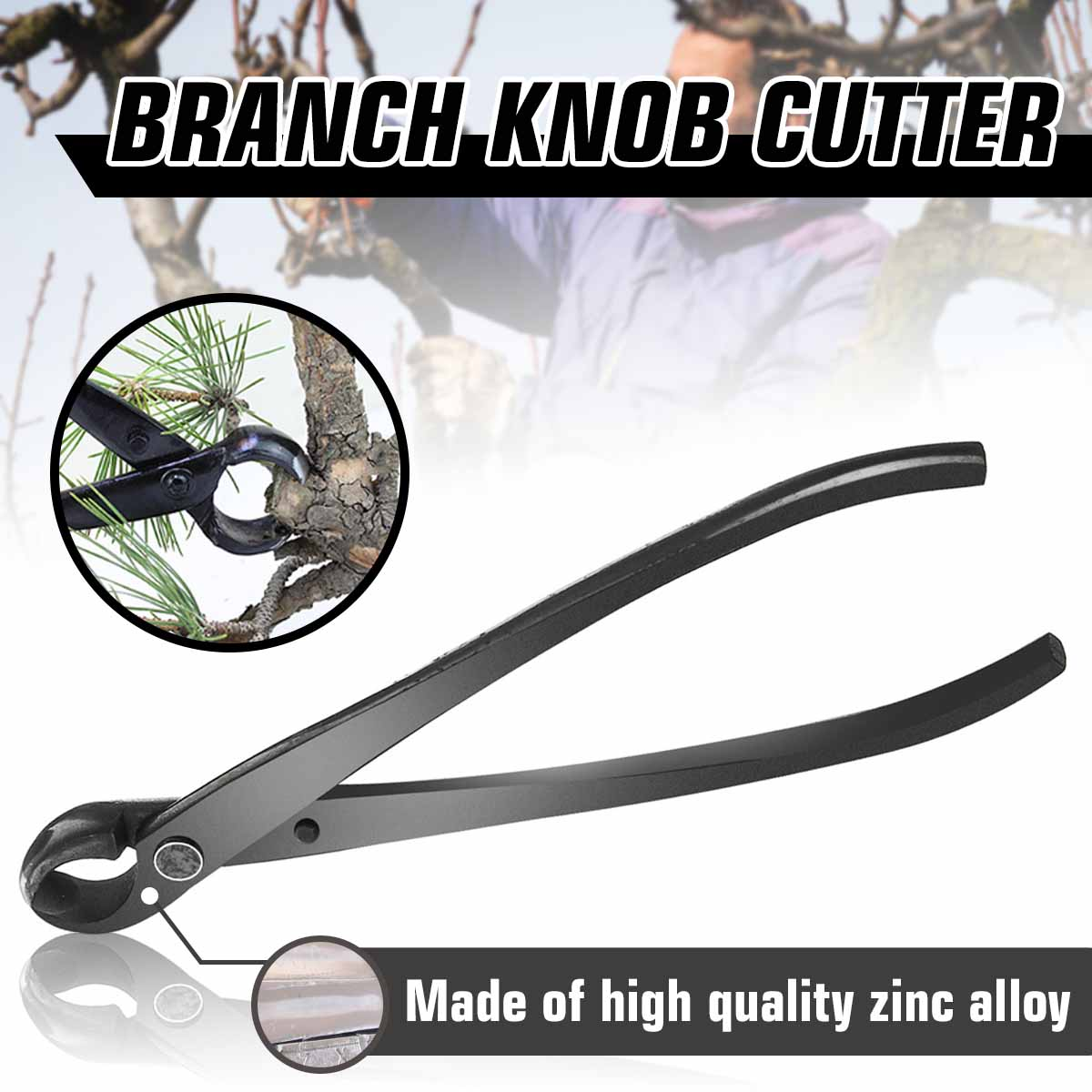 210mm Professional Round Edge Concave Knob Branch Cutter Garden Bonsai Tools Purner Scissors Cutter Knife