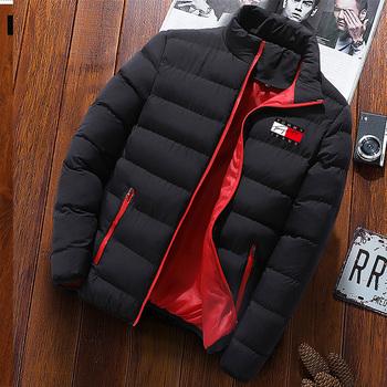 Zimowe ubrania męskie wiatroszczelne oraz aksamitna gruba powłoka moda ciepłe zimowe męskie jednokolorowe klapy jakości płaszcz na co dzień tanie i dobre opinie CN (pochodzenie) zipper Kurtki płaszcze 30-51 REGULAR STANDARD NONE 100 poliester Drukuj Aplikacje Golfem Konwencjonalne