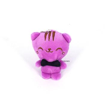 Urocze 10CM koty pluszowe wypełnione zabawki brelok na prezent lalki na ślub tanie i dobre opinie CHUNEN CN (pochodzenie) Tv movie postaci COTTON STARSZE DZIECI Mały wisiorek Miękkie i pluszowe Unisex Keep Away From Fire