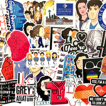 50pcs TV Show Greys Anatomy Graffiti Stickers for Laptop Skateboard Motorcycle Car Luggage Accessories Decor Waterproof Sticker 60mixed graffiti jdm stickers waterproof home decor doodle laptop motorcycle bike travel case decal car accessories car sticker