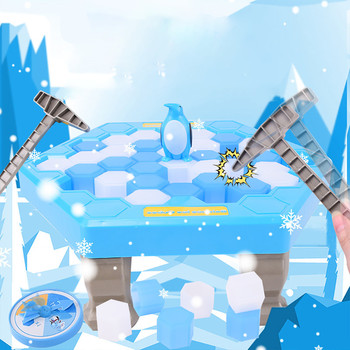 Funny Great Family Penguin Ice Breaking Save The Penguin Kid Toy Gifts Desktop Game Who Make The Penguin Fall Off Lose This Game фото